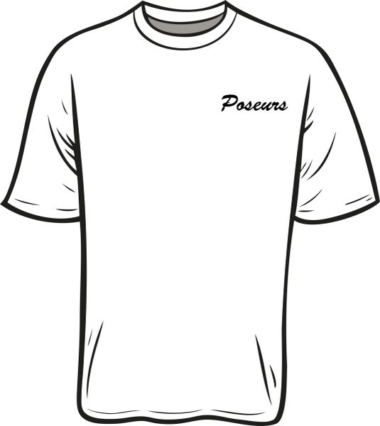 Poseurs T-shirt with Left Chest