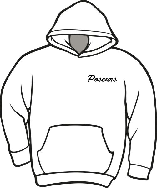 Poseurs Hoodie with Left Chest