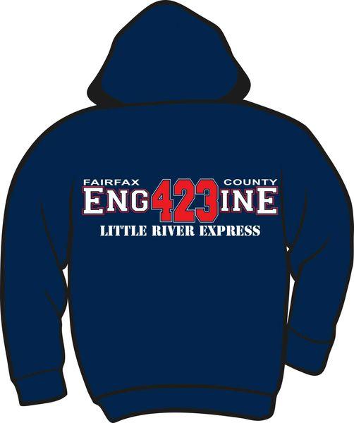 FS423 Little River Engine Heavyweight Zipper Hoodie