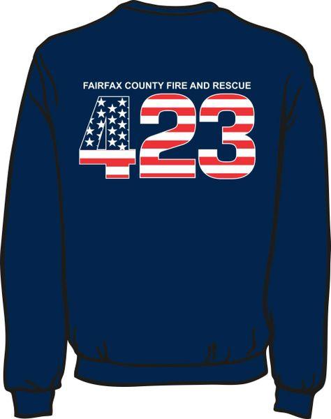 FS423 Flag Heavyweight Sweatshirt