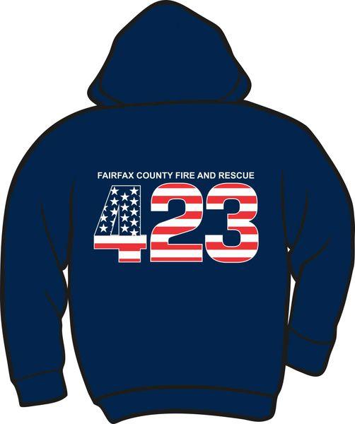 FS423 Flag Heavyweight Zipper Hoodie