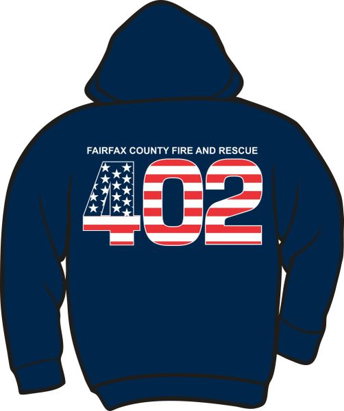 FS402 Flag Heavyweight Zipper Hoodie