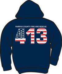 FS413 Flag Heavyweight Zipper Hoodie