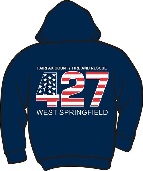FS427 Flag Heavyweight Zipper Hoodie