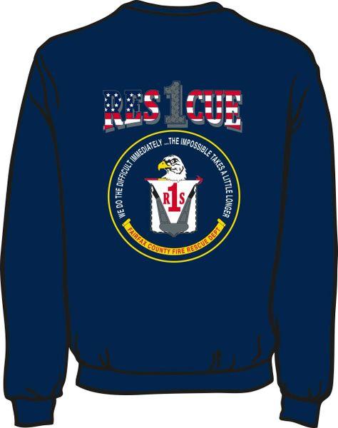 FS401 Rescue 1 Heavyweight Sweatshirt