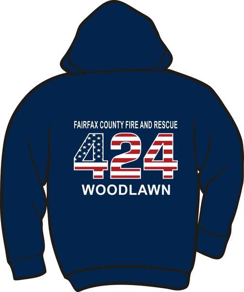 FS424 Flag Lightweight Zipper Hoodie