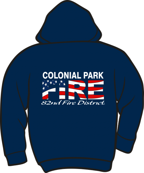 Colonial Park Flag Heavyweight Zipper Hoodie
