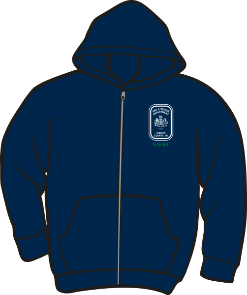 Fairfax County Safety Officer 401 Heavyweight Zipper Hoodie