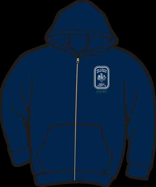Fairfax County Safety Officer 403 Lightweight Zipper Hoodie