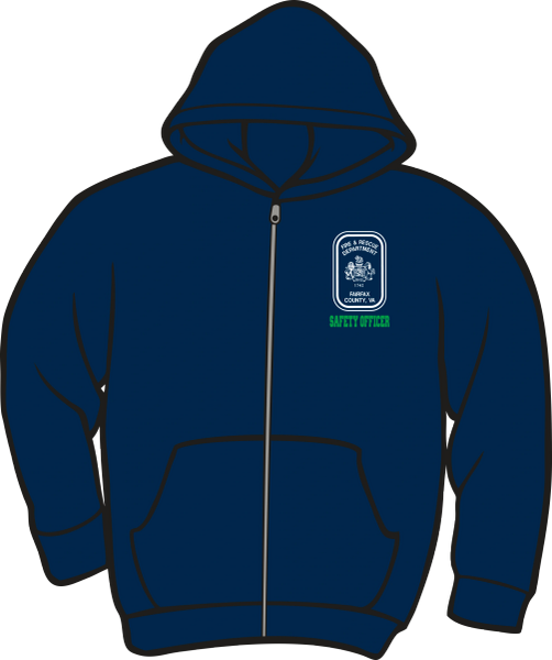 Fairfax County Safety Officer Lightweight Zipper Hoodie