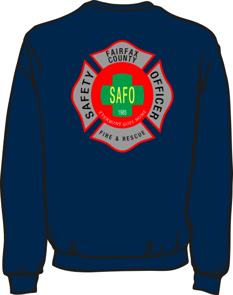 Fairfax County Safety Officer Lightweight Sweatshirt
