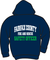 Fairfax County Fire and Rescue Safety Officer Lightweight Zipper Hoodie