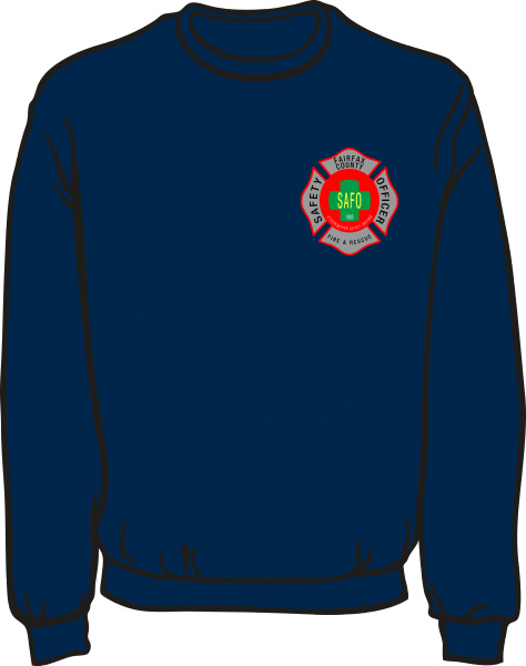 Fairfax County Fire and Rescue Safety Officer Lightweight Sweatshirt