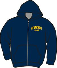 GWHS 1968 50th Reunion Zipper Hoodie