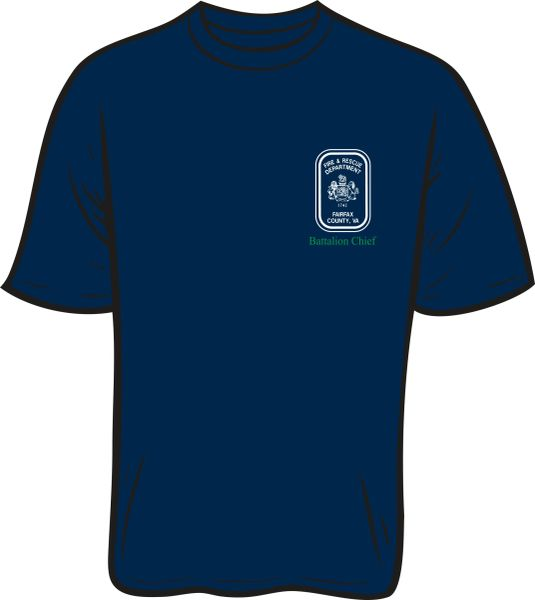 Fairfax County Safety Officer Battalion Chief T-Shirt