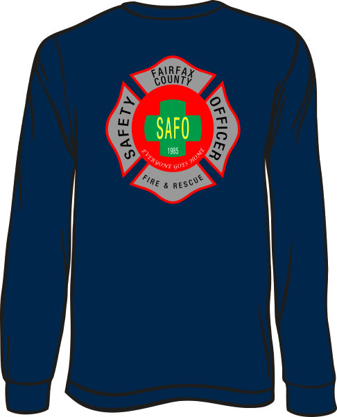 Fairfax County Safety Officer Battalion Chief Long-Sleeve T-Shirt