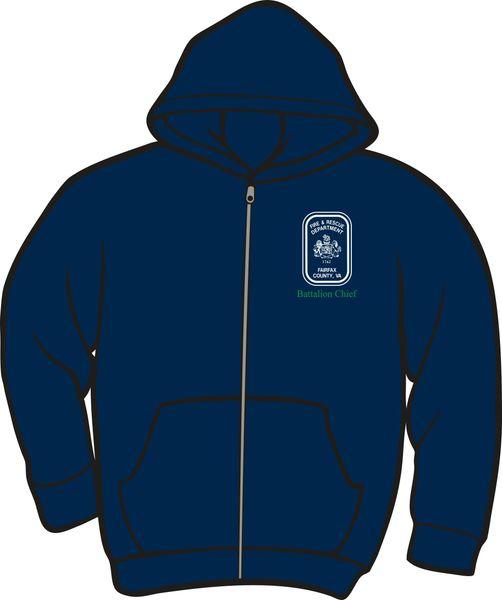 Fairfax County Safety Officer Battalion Chief Lightweight Zipper Hoodie