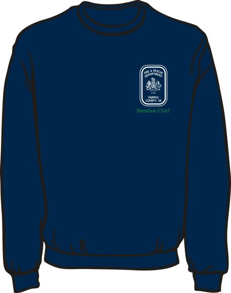 Fairfax County Safety Officer Battalion Chief Heavyweight Sweatshirt