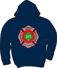 Fairfax County Safety Officer Battalion Chief Heavyweight Zipper Hoodie