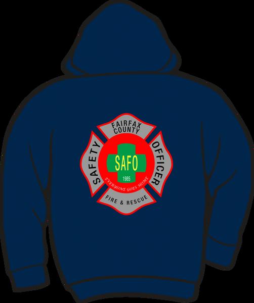 Fairfax County Safety Officer Battalion Chief Heavyweight Zipper Hoodie