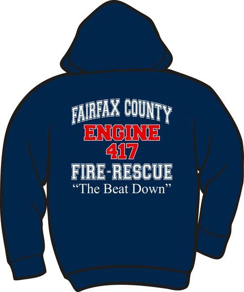 FS417 F&R Engine Lightweight Zipper Hoodie