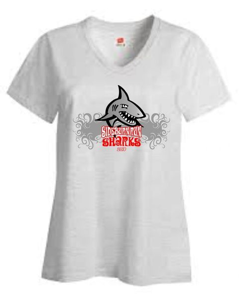 Sideburn Run Sharks Team V-neck Shirt