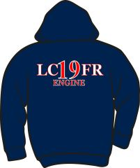 LC19 Engine Lightweight Zipper Hoodie