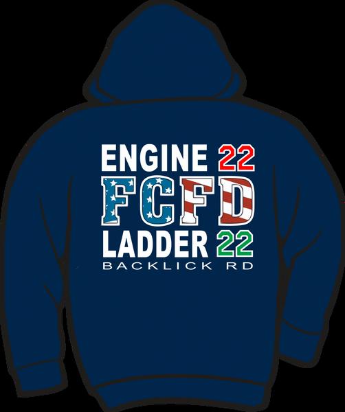 FS422 Flag Heavyweight Zipper Hoodie