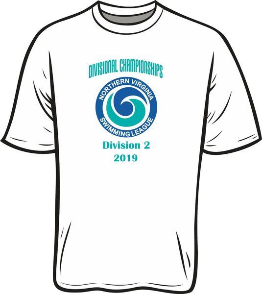 NVSL Dive Divisionals 2019 T-shirt - Division 2