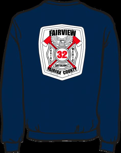 FS432 White Patch Lightweight Sweatshirt
