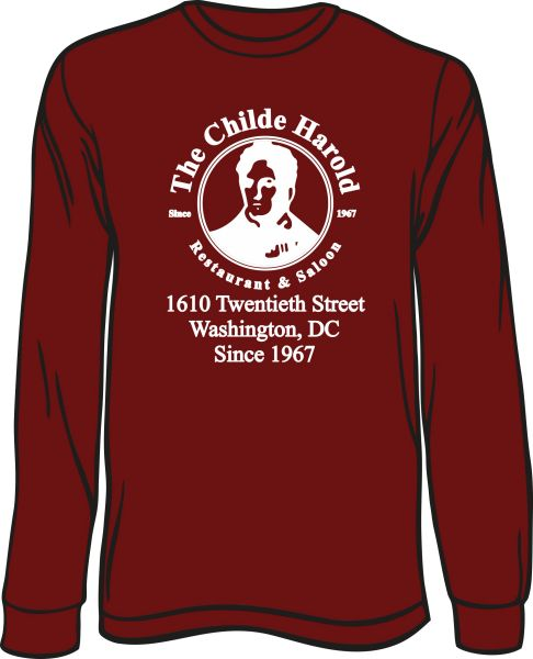 Childe Harold Long-Sleeve T-Shirt with address