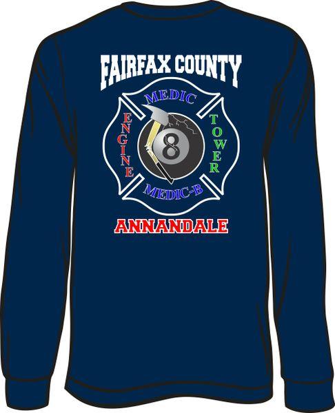 FS408 8-Ball Shield Long-Sleeve T-shirt