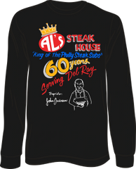 Al's Steak House - 60 years by Donnie Strother Long-Sleeve T-shirt in BLACK