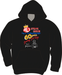 Al's Steak House - 60 years by Donnie Strother Hoodie in BLACK