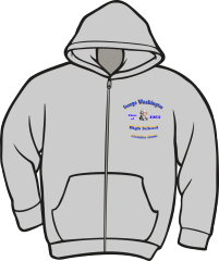 GW High School Class Zippered Hoodie