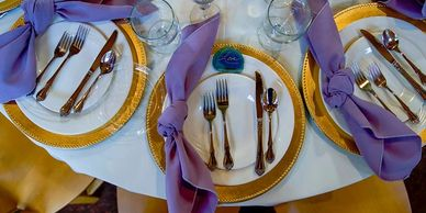 wedding decor, wedding decorations, table setting, linens, BBJ Linen, wedding decorating, YMCA of th