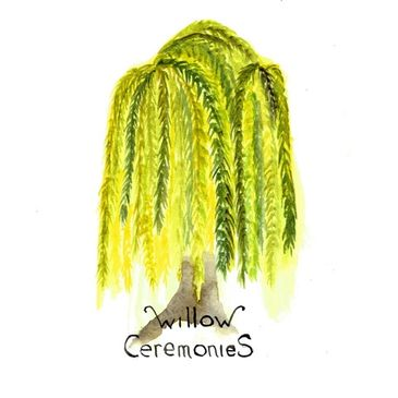Willow Ceremonies hand-painted logo