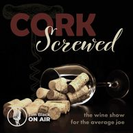 Cork Screwed the wine show for the average job. Corks spill from on overturned wine glass.