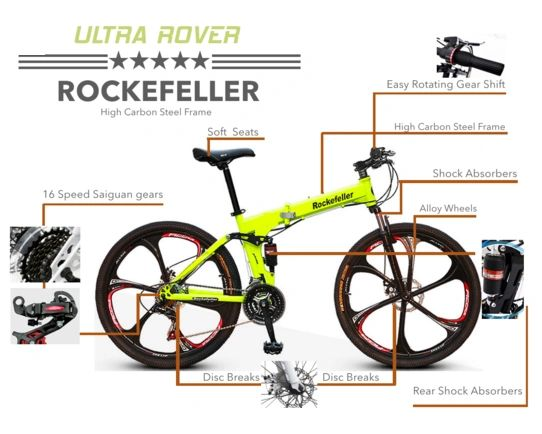 24de7b42f84 Rockefeller Folding Mountain Bicycle with 26'' Magnesium Alloy Wh |  GoGoA1.com is OEM/ODM&Supplier of Electric&Solar Powered Vehicles