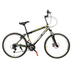 BALZAC Mountain Bicycle with High carbon steel and 26'' wheels, black&yellow