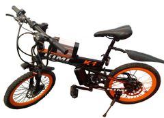 KIMI Folding Black&Orange Fully Loaded Electric Mountain Bicycle with 20'' spoke wheels