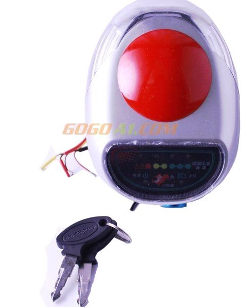 GoGoA1 36V frontlight electric bike scooter headlight with horn and switch lock &key LED lamp with display moped tricycle headlamp