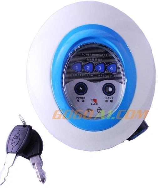 GoGoA1 24V/36V Frontlight electric bike scooter headlight with horn and switch lock &key LED lamp with display moped tricycle headlamp