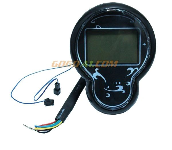 GoGoA1 48v/60V LCD Digital Instrument for an Electric Scooter/Motorcycle 6 Wires Speedometer Tachometer Chinese Princess Moped Meter