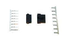 GoGoA1 10 Sets 2.5mm 8P Black Plastic Plug Housing w Male Female Connector