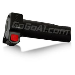 GoGoA1 Universal 12v 24v 36v 48v Black Motorcycle Electric Scooter Bike Throttle Grip with Horn Switch and Mode Indicator