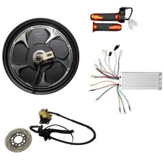 BLDC 48V 1000W 10 Inch Gearless HUB MOTOR with disc brake Scooter Kit
