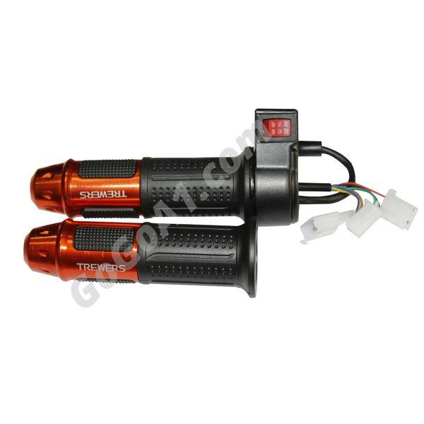 GoGoA1 Universal 12v 24v 36v 48v 60v Electric Scooter Bike Throttle Grip with Switch