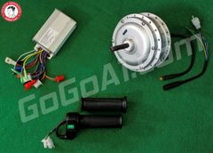 GoGoA1 48V 350W Hub Motor For Fat Tyre With Threads On Both Side (Short Wire)