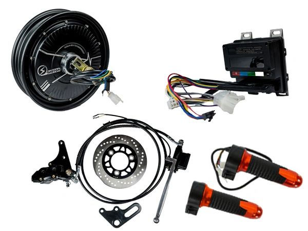 GoGoA1 10 inch 48V 1000W BLDC Hub Motor With Disc Brake Scooter Kit